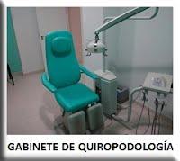 Gabinete de quiropodología